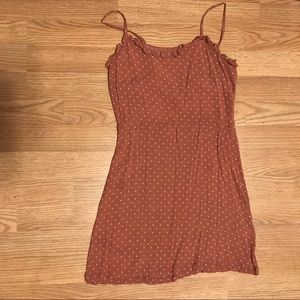 Rust Polka-dot Derek Heart Dress